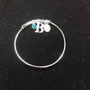 Jewelry - Bracket Initial B Rhinestone Charm & 2 other charm